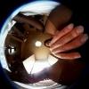 黒ビキニ&黒タイツでオナニーを360度カメラで見上げるエロ動画